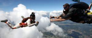 saut parachute filmé
