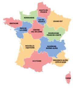 carte regions france ou sauter parachute