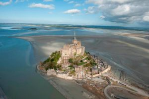 vue Baie Mont Saint Michel sauter parachute