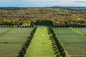 photo aérienne cimetière grande guerre