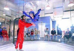 simulateur chute libre saut en parachute