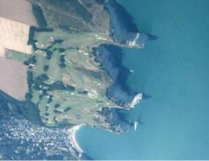 Falaises d'Etretat vue aérienne lors d'un saut en parachute Normandie