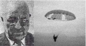 photo Pierre-Marcel Lemoigne, inventeur parachutiusme ascensionnel civil
