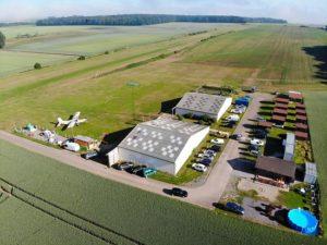 vue aérienne centre parachutisme nord, fretoy