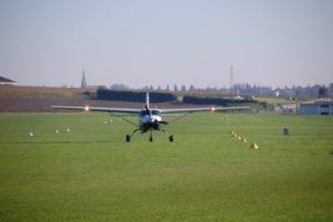 Cessna C208 à l'atterrissage
