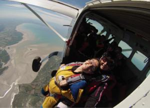 Saut en parachute Normandie mont saint michel