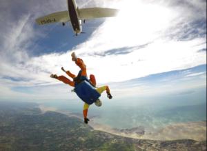 Saut en parachute Normandie au dessus du Cotentin