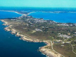 Vue saut en parachute Bretagne Quiberon Ouest