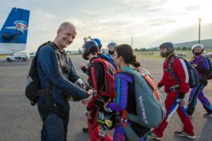 préparation saut en parachute Nantes