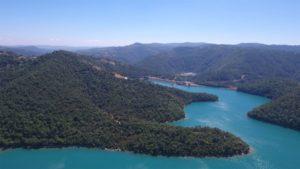 Saut en parachute Nice au dessus du Lac de Saint-Cassien