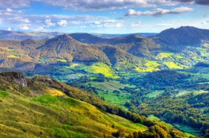 Vue descente sous voile Auvergne-Rhône-Alpes